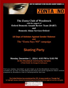 Zonta Says NO Skating Party
