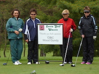Zonta Golfers with CIBC Hole Sponsor Sign