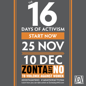 Zonta International 16 Days of Activism Poster