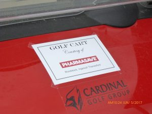 22nd Zonta Golf Classic Golf Cart Recognition Sign