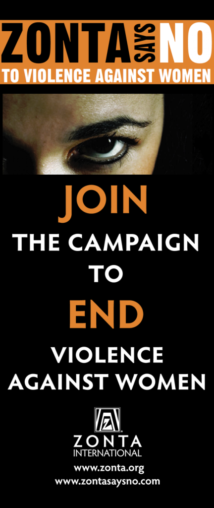Zonta International Zonta Says NO Campaign Banner