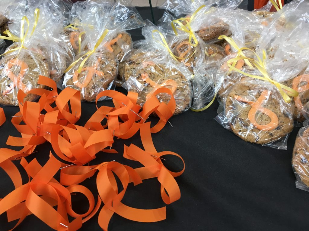 Woodstock Zonta Says NO Campaign Cookies & Ribbons