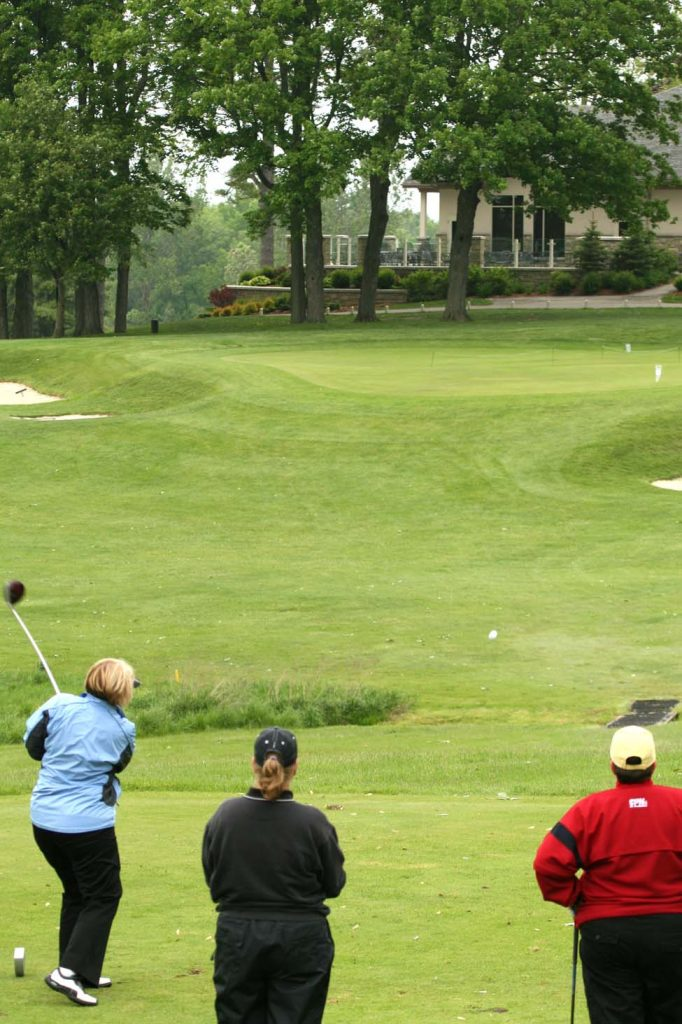 Golf Classic Women Teeing off from Craigowan's 9th Hole