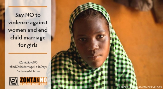 Zonta Says NO End Child Marriage Poster