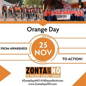 Zonta International Nov 25th Orange Day Poster