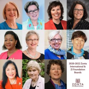 2018 - 2020 Zonta International Elected Officers